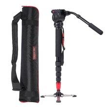 JY0506 профессиональный монопод из алюминиевого сплава с жидкой головкой для ILDC DSLR камеры видеокамеры DV Карманная камера Максимальная грузоподъемность 4 кг