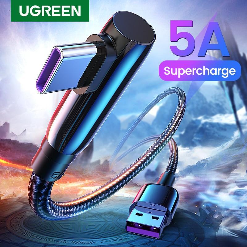 Ugreen 5A USB Typ C Kabel Schnelle Aufzurüsten 40W USB C Quick Charge 3,0 Typ-C USB Schnelle ladekabel für Huawei Mate 30 Pro P30
