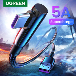 Ugreen 5A USB Type C Cable Fast Supercharge 40W USB C Quick Charge 3.0 Type-C USB Fast Charging Cord for Huawei Mate 30 Pro P30