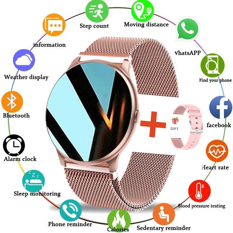 LIGE 2021 Fashion Smart Watch Ladies Heart Rate Blood Pressure Multifunctional Sport Watch Men Woman Waterproof Innrech Market.com