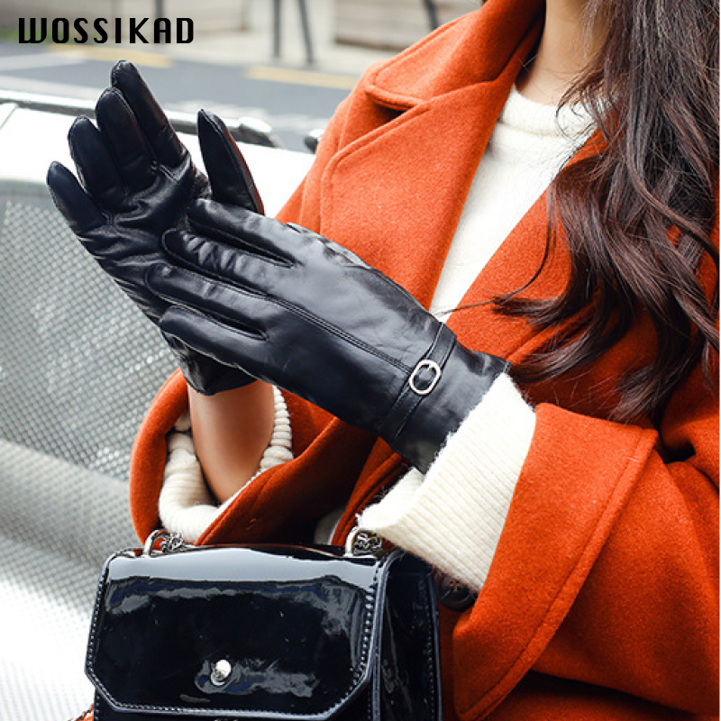 Glove Genuine Leather Warm Touch Screen Winter Gloves Women Gloves Leather Guantes Luvas Motociclismo Guantes Invierno Mujer