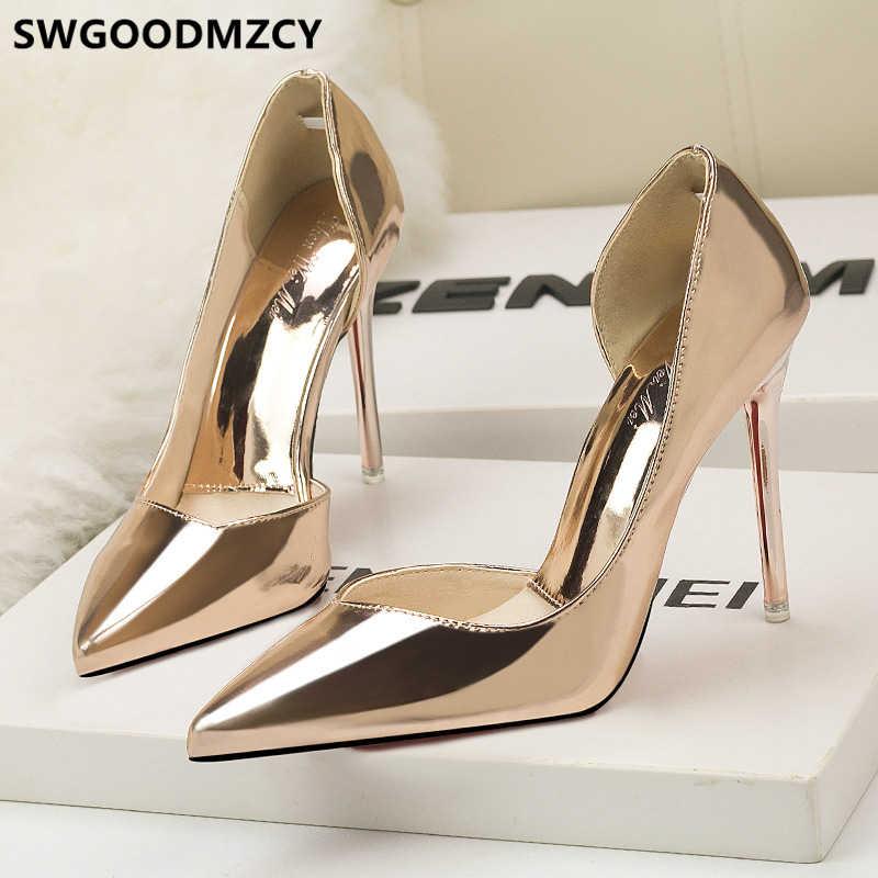 Scarpe da sposa sposa fetish tacchi alti scarpe di marca delle donne di lusso 2019 estremo di alta talloni delle pompe delle donne scarpe sexy degli alti talloni buty
