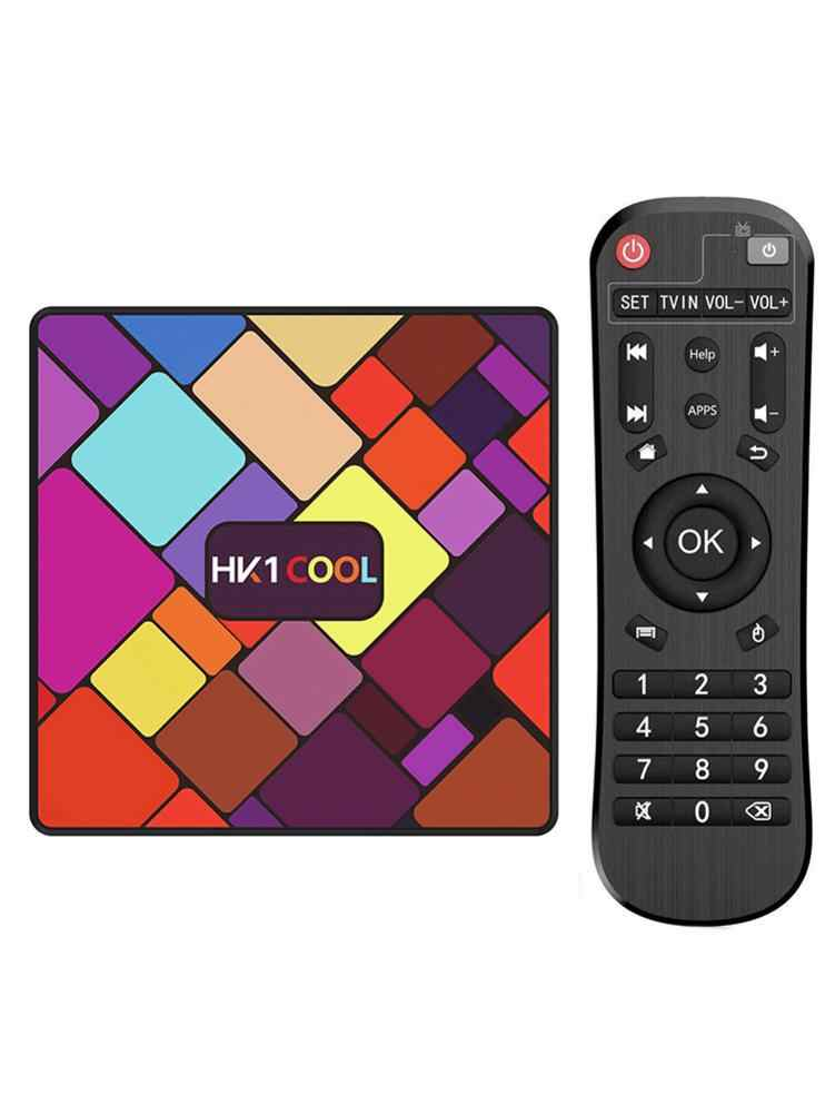 HK1 Keren Set-Top Box RK3318 Android 9.0 Quad-Core 2 + 16/4 + 128G 2.4G/5G Wifi BT4.0 4K HD Jaringan Player Smart TV Box