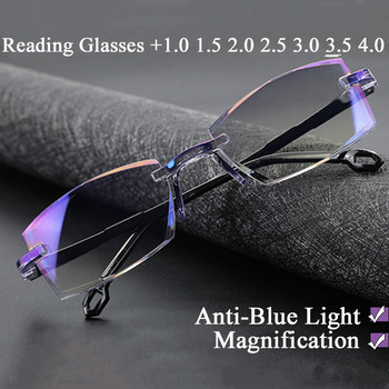 +1.0 To +4.0 Fashion New Anti Blue Light Reading Eyeglasses Magnification Eyewear Presbyopic Glasses Diopter Dimond Cutting seemfly reading glasses women men ultralight resin lenses elderly tr90 presbyopic eyeglasses diopter 1 0 1 5 2 0 2 5 3 0 3 5 4 0