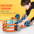 Hot selling High speed Gyrotron Auto klaring Elektrische Lading Souptoys Kinderen DIY Speelgoed racewagen speelgoed voor Kinderen