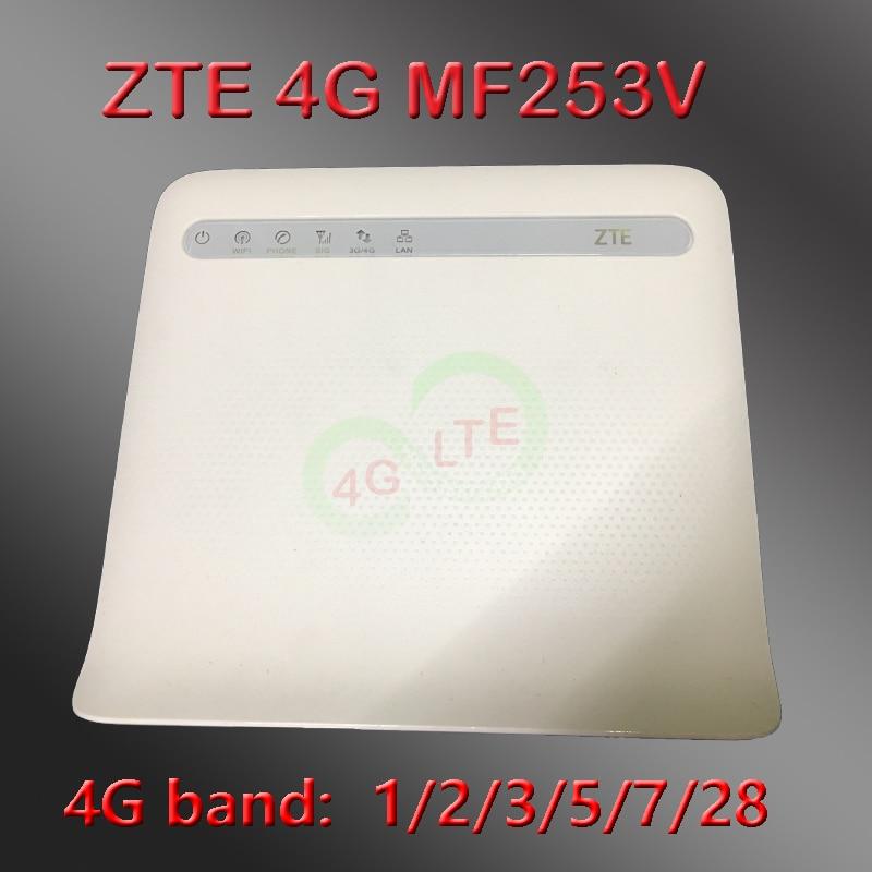 Unlocked ZTE Mf253 MF253v Router 4g Rj45 Lte Modem Wifi 4g Routeur Avec Sim Carte  Pocket Dongle Portable Wifi 4g