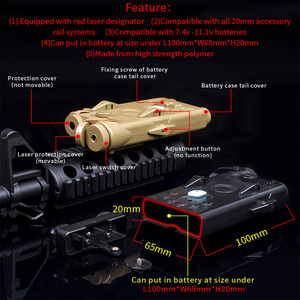 Image 3 - WADSN Airsoft Tactical AN peq PEQ 2 Battery Case Red Laser For 20mm Rails No Function PEQ2 Box WEX426