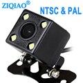 ZIQIAO Автомобильная резервная камера для парковки 4 LED ночного видения внешняя универсальная обратная камера PAL HS073 NTSC HS015