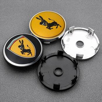 цена на 4PCS 60MM Car Wheel Center Hub Caps Badge Emblem Sticker Rim Dust-proof Cover for Ferrari Donkey logo  Car Styling Accessories