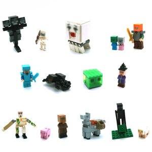Золотой Steve Dragon Slayer строительные блоки фигурки совместимые мини-игры мой мир кирпичи набор для подарка игрушки