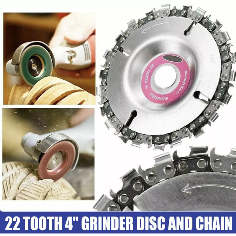 Wood Carving Disc Woodworking Chain Grinder Chain Saws Disc Chain Plate Tool For 125MM/115MM Angle Grinding 5 Inch 4 Inch