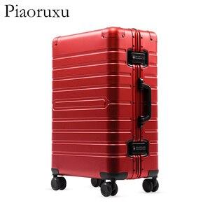 "Image 4 - 20""24""28"" inch 100% aluminium rolling luggage travel suitcase aluminum spinner trolley bag on wheel"