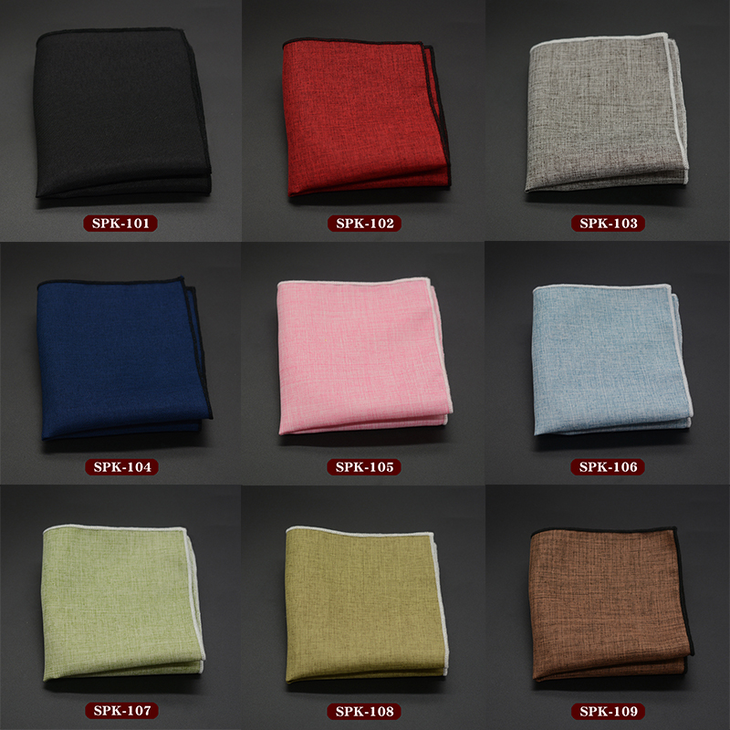 Men Handkerchief Male Pocket Towels Fashion Pocket Square Classic Solid Color Hanky Business Wedding Accessories 22*22cm