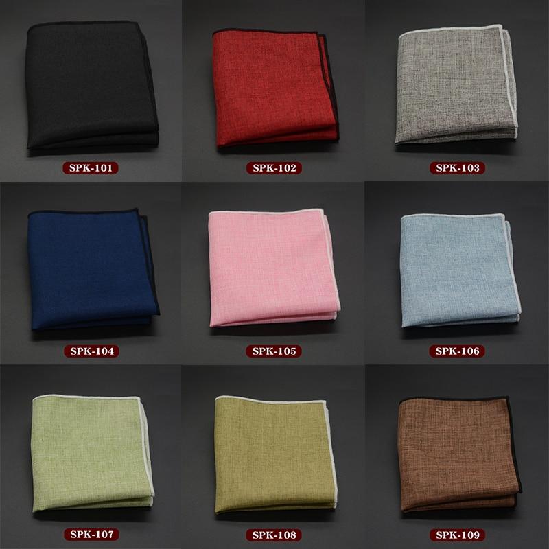 Men Handkerchief Male Pocket Towels Fashion Pocket Square Classic Solid Color Hanky Business Wedding Accessories 22*22cm