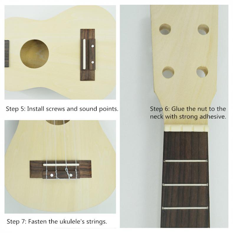 guitarra handwork apoio pintura crianças