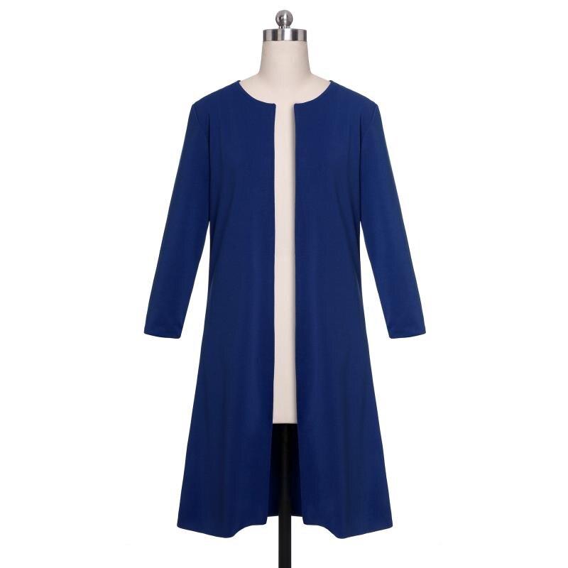 Image 5 - 2019 New Suits Office Lady Formal Dress  Business Wear Women Long Blazer Jacket Sheath Dress 2 Piece Women's Sets-in Women's Sets from Women's Clothing