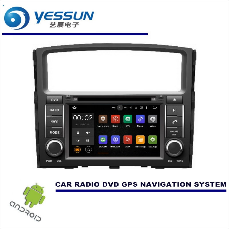 YESSUN Автомобильная Мультимедийная навигационная система для Mitsubishi Pajero/Montero/Shogun CD DVD GPS плеер Радио Стерео Wince/Android