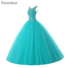 Favordear sparkly beading vestido de 15 anos quinceanera vestidos de baile doce 15 rendas até voltar vestidos de baile 2020