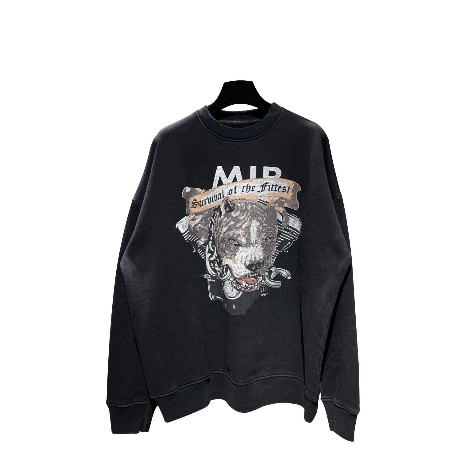 2020 Best Version 1:1 Dog Printed Women Men Sweatshirt Hoodies Hiphop Streetwear Men Casual Cotton Sweatshirt Pullover