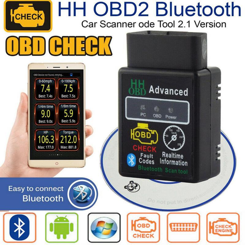 ELM327 V1.5 HH OBD 2 OBDII Car Auto Bluetooth Diagnostic Tool Interface Scanner OBD Version 1.5/HHOBD Version 2.1 Dropshipping