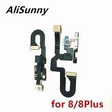 Alisunny cabo frontal de câmera, cabo flexível para iphone 8 plus 5.5 8g 8 plus face cam peças de reposição do sensor de promistura luz