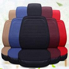 Auto Sitz Abdeckung Protector Auto Flachs Vorne Mit Rückenlehne Sitzkissen Pad für Auto Automotive Innen Lkw Suv oder Van