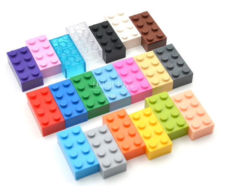 100PCS/Lot Kids DIY Toys 2*4 Plastic Building Blocks 2x4 Assemble Educational Learning Girls Boys Toys compatible with legoes