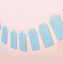 Флажки «С Днем Рождения» для детей 1-12 месяцы фоторамка красивые баннер Shower овсянка Бумага украшения гирлянды вечерние поставки