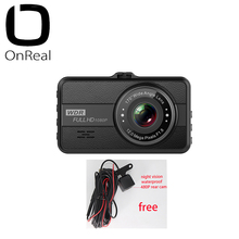 1080P dash kamera OnReal Q10 3.0 inç IPS ekran 1080P 30FPS 200mAh akülü araba DVR mini araba kamera 1080P araba video kaydedici