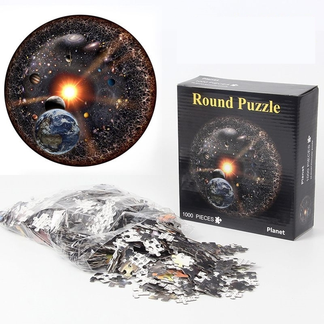 Jigsaw Puzzle 1000 Piece Planet Puzzle Early Education Toy Adult Children Family Game Toys DIY Stress Relief Educational Toys 2