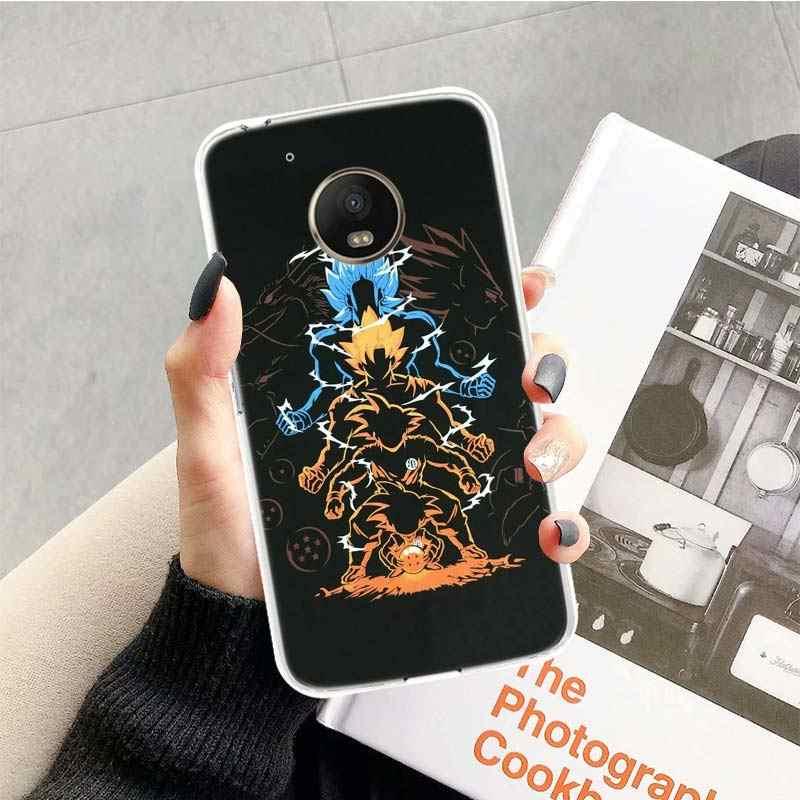 Funda de móvil de acción de Dragon Ball, funda de Anime para Motorola Moto G8 G7 G6 G5S G5 E6 E4 E5 Plus G4 Play Power X4 One
