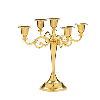 Retro Luxury Modern Creative Golden Candle Holders Classic Wedding Table Centerpieces Candlesticks Living Room Decoration II50ZT