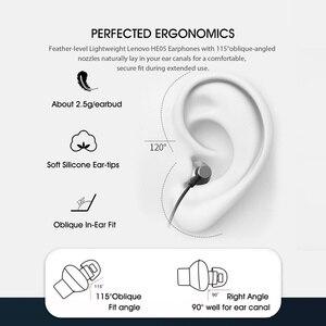 Image 5 - Lenovo Bluetooth наушники HE05 беспроводного Bluetooth (голубой зуб) наушника BT5.0 спортивные гарнитуры Sweatproof IPX5 с микрофоном шумоподавления эрпом