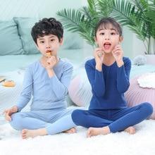 Long Johns Girls Thermal Kids Underwears Boys Clothes Set Sleepwear Alete Baby Warm Pajamas Suit Unisex Homewear Children