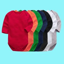 Bodysuit do bebê recém-nascido meninos meninas roupas de manga longa 3 6 9 12 18 24 meses criança infantil crianças roupas