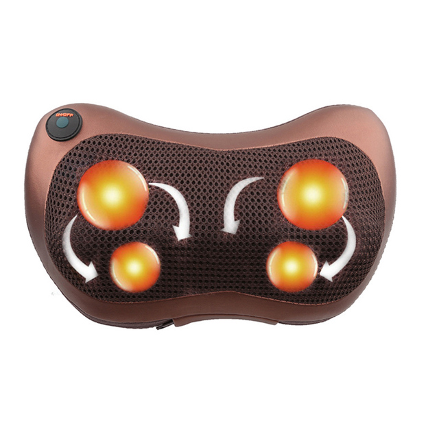 Relaxation Massage Pillow Vibrator Electric Shoulder Back Heating Kneading Infrared therapy pillow shiatsu Neck Massager 3
