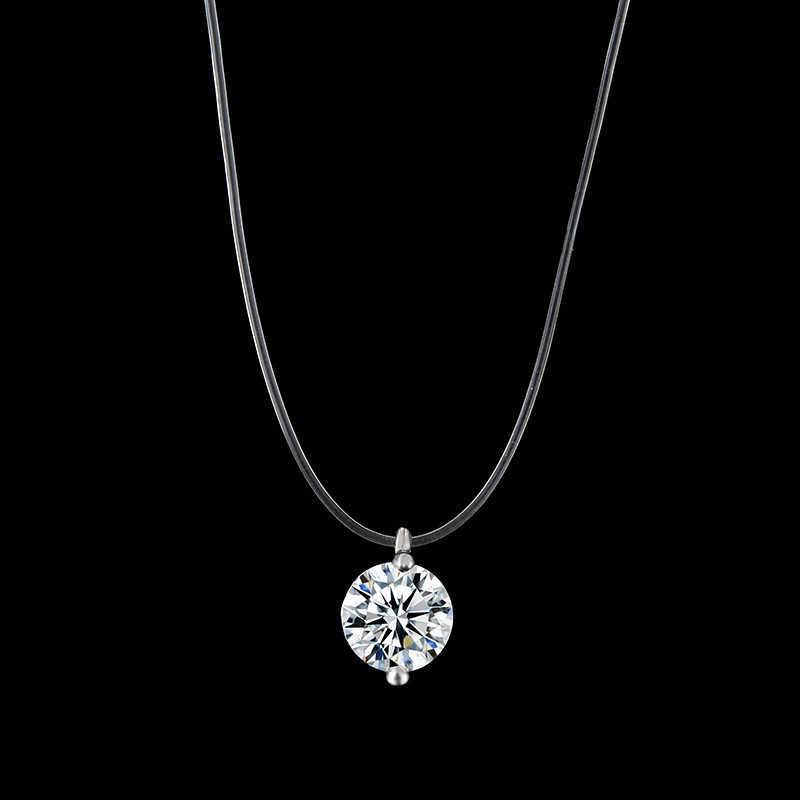 Baru Sederhana Rumbai Perempuan Rantai Kalung Perak Emas Bulat Kalung Liontin Kalung Perhiasan Personalized Kalung Aksesoris Hadiah