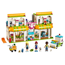 Friends Series Bricks Heartlake City Pet Centre Compatible Legoingly 41345 Building Blocks for Children Christmas Gift