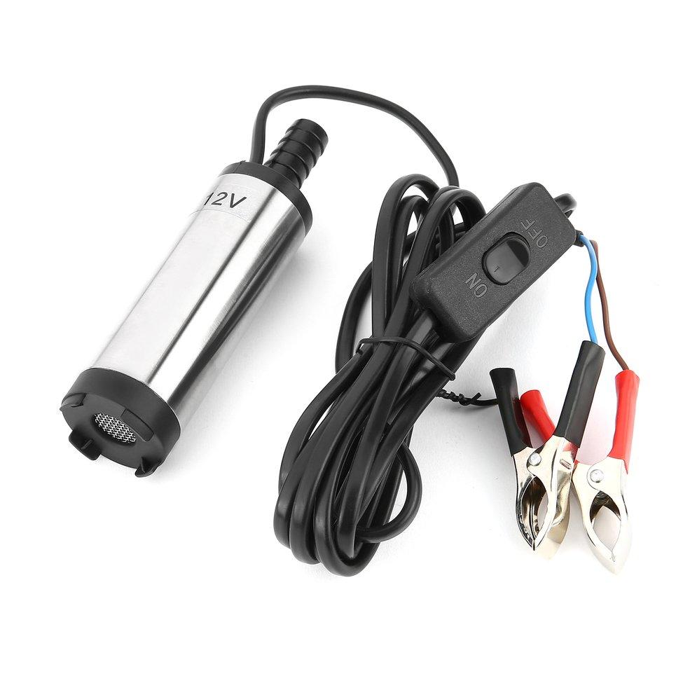 12V 38mm elektrikli yakıt aktarma pompası su yağ Transfer yakıt ikmali dalgıç pompa dizel su pompası için araba motosiklet