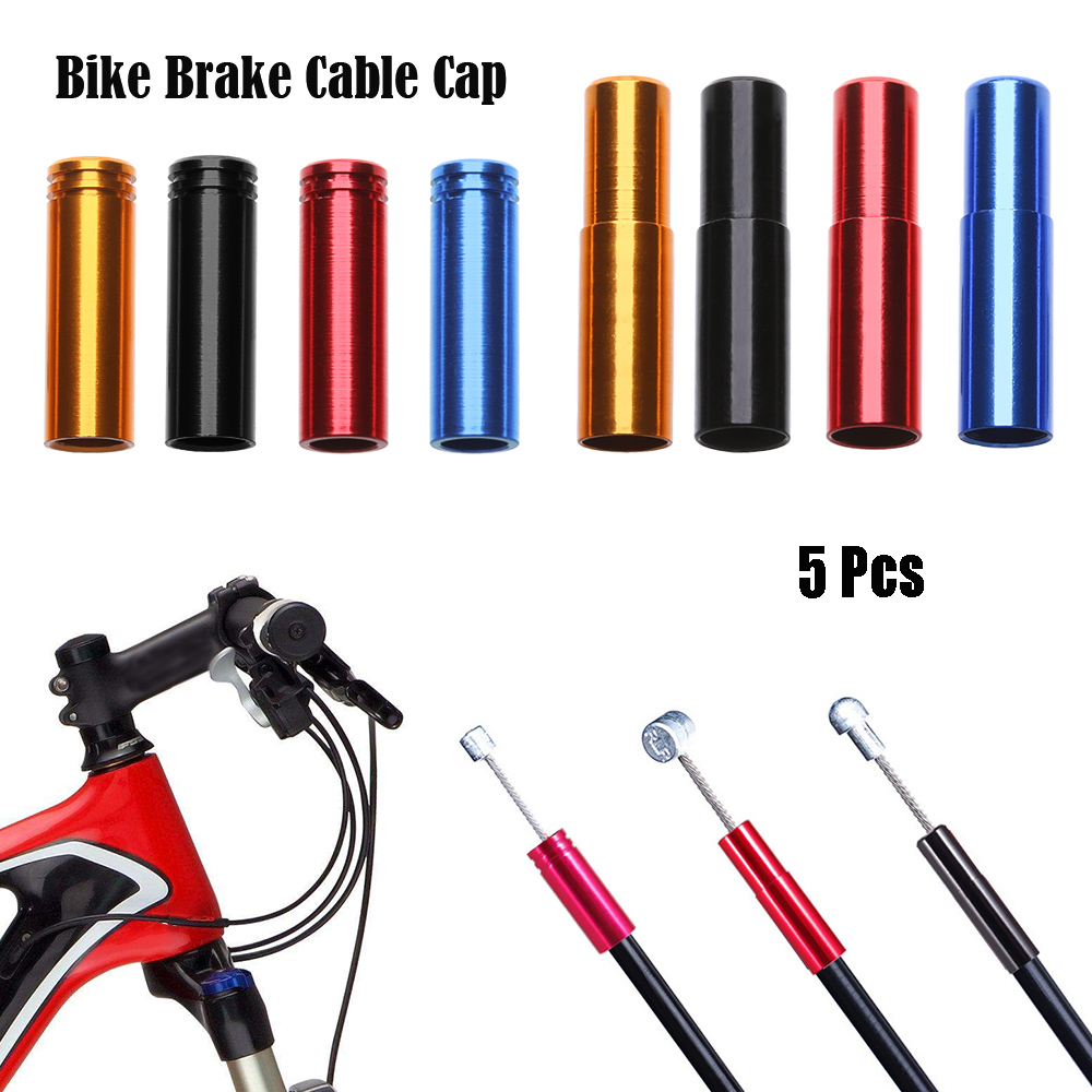 End Tip Caps Shift//Brake Cables Cap Wire Tube Bicycle Parts Cable Protector