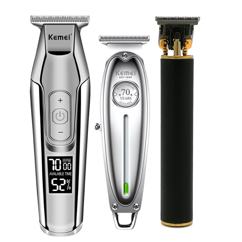 Kemei All Metal Professional Electric Hair Clipper Rechargeable Hair Trimmer Haircut Shaving Machine Kit KM-1949 KM-1971 KM-5027
