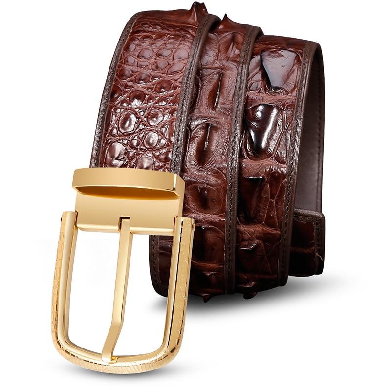 Luxury Belt Genuine Leather Belt Men Brown Mens Belts Casual Stainless Steel Buckle Belts For Men Pants Crocodile Boys Riem 6132