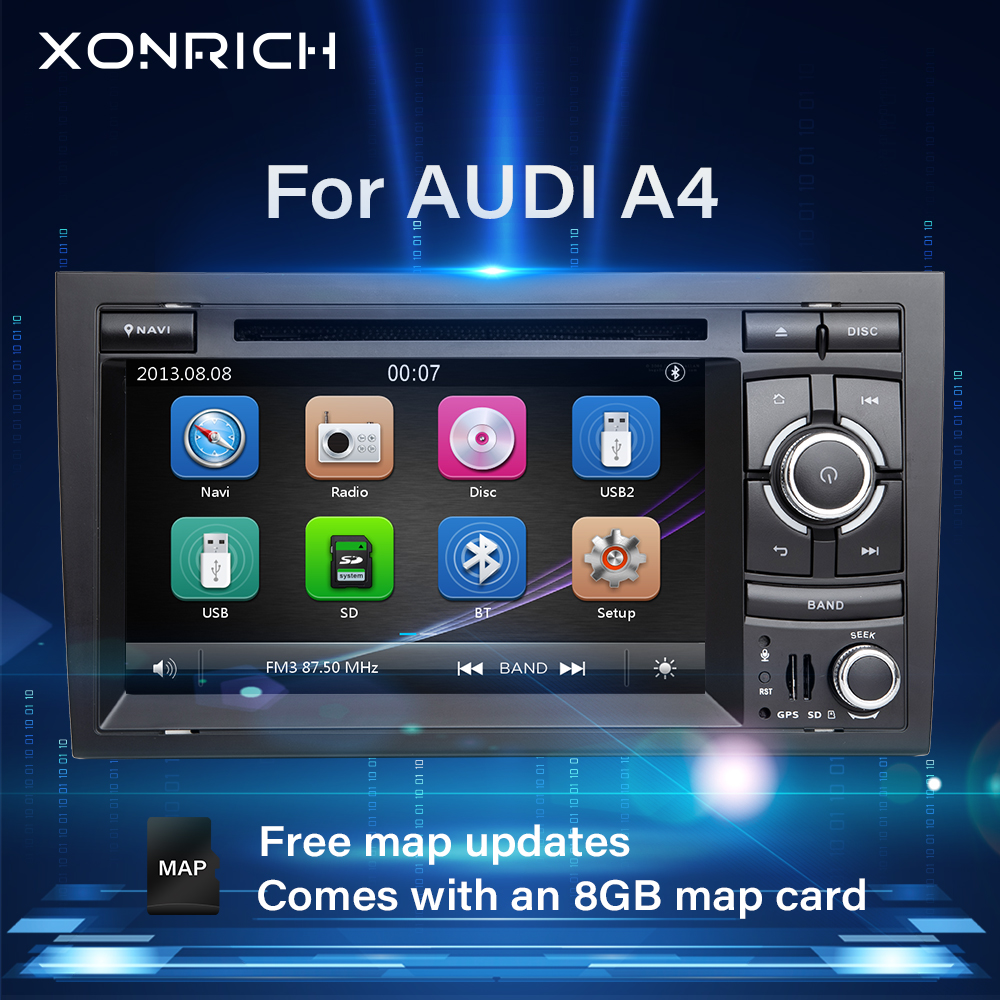 AutoRadio 2 Din Car Multimedia Player For Audi A4 B6 B7 Seat Exeo S4 B7 B6 RS4 B7 GPS Navigation Head Unit Car Stereo DVD Audio