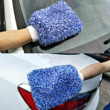 Buy Car Cleaning Wash Soft Microfiber Gloves Detailing Wash Mitt Clothes Towel Glove High Density Cleaning Gloves directly from merchant!