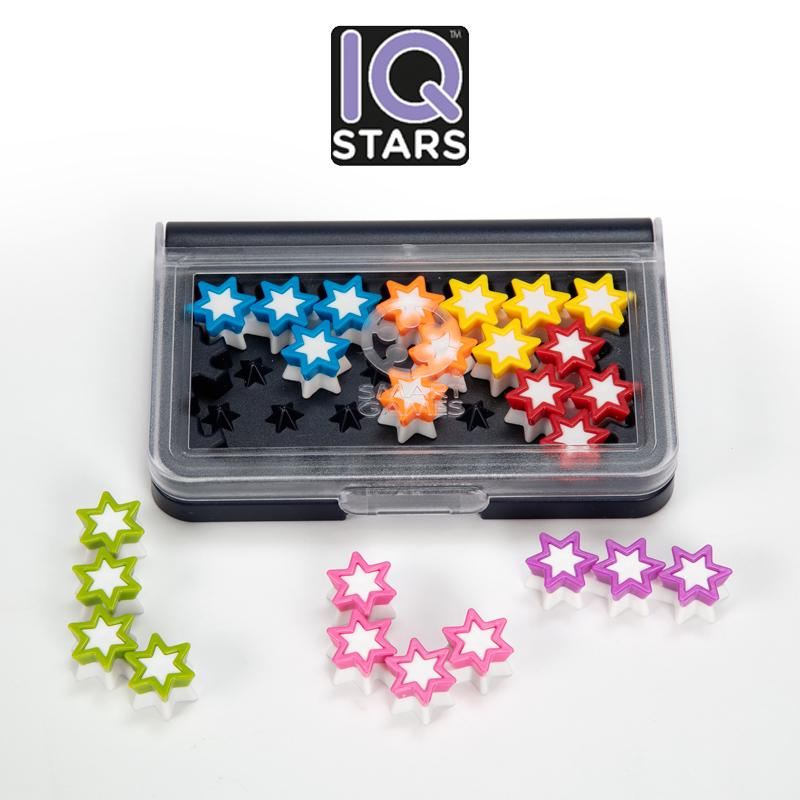 SmartGames IQ Stars Brain Teaser For Ages 6 & Up 120 Challenges In A Travel-Friendly Case The Entry-Level IQ Game