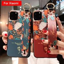 Luxury Flower Soft TPU Wrist Strap Case for Xiaomi