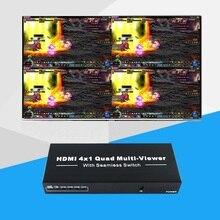 1080P 3D 4x1 HDMI мульти-просмотра HDMI Quad экран в реальном времени мульти-просмотра HDMI сплиттер бесшовный коммутатор с ИК-управлением