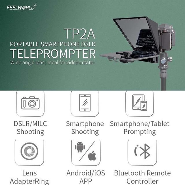 Teleprompter Feelworld 8 Polegadas com Suporte para Ipad - Mini Tablet e Smartphones - Suporta Gravação em Câmeras DSLR e Smartphone 2