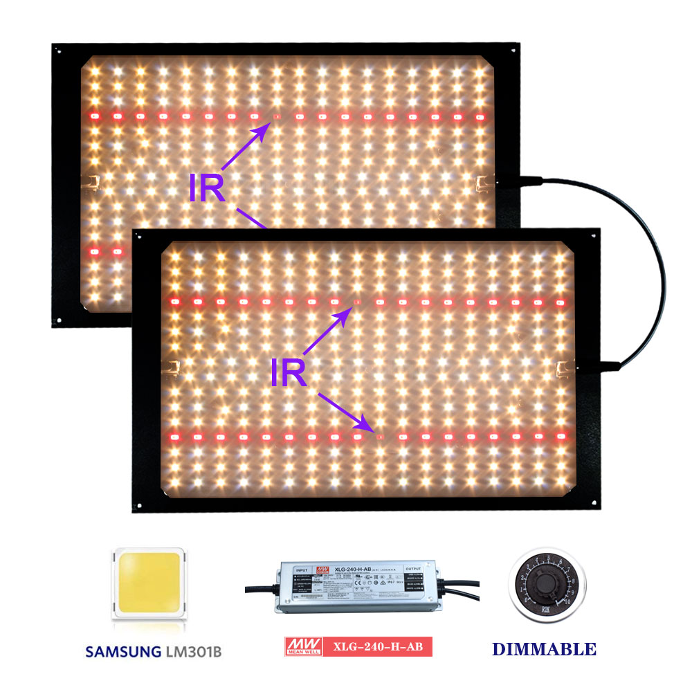 Pre-sell 240W/120w  LED Grow Light Quantum Board Full Spectrum Samsung LM301B 3000K/5000K+660nm Meanwell Driver DIY Parts