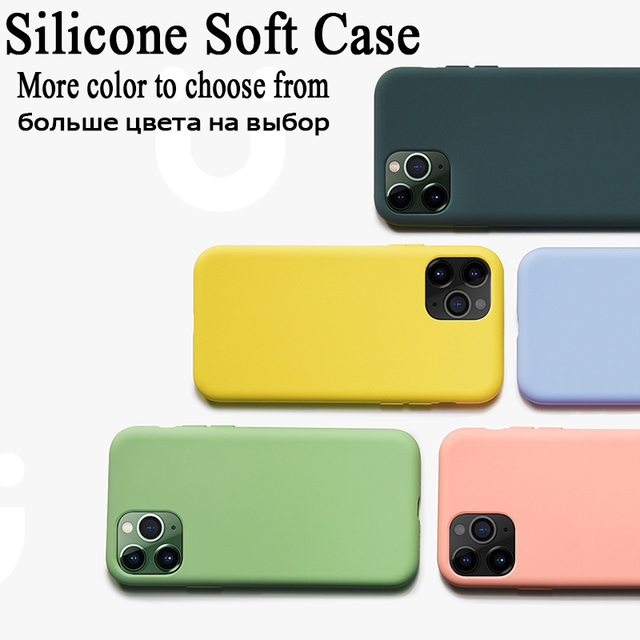 For iPhone 7 6 6S 8 Plus Case Luxury Original Liquid Silicone Soft Cover For iPhone 11 12 Pro X XR XS Max Shockproof Phone Case 6